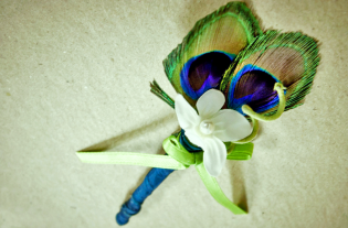 Peacock Corsage