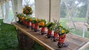 Centerpieces for the dining tables